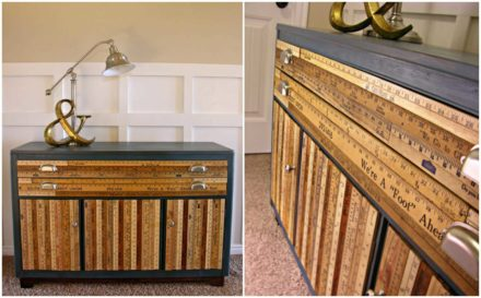 Stunning Buffet Made From Upcycled Yardsticks