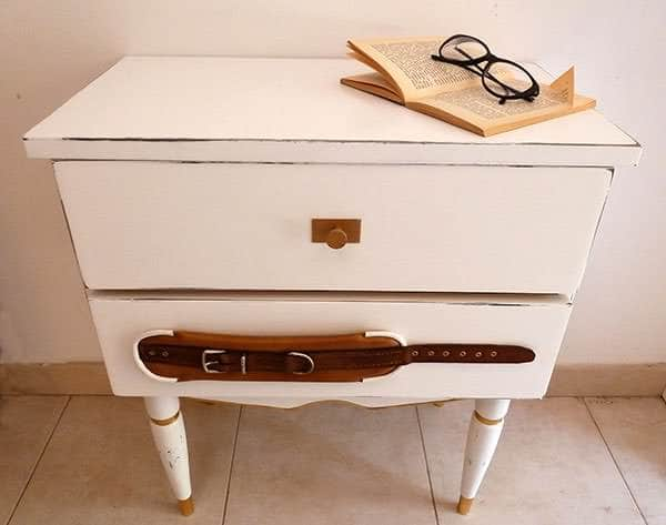 Bedside table with histories to tell in furniture  with Recycled Furniture Bed