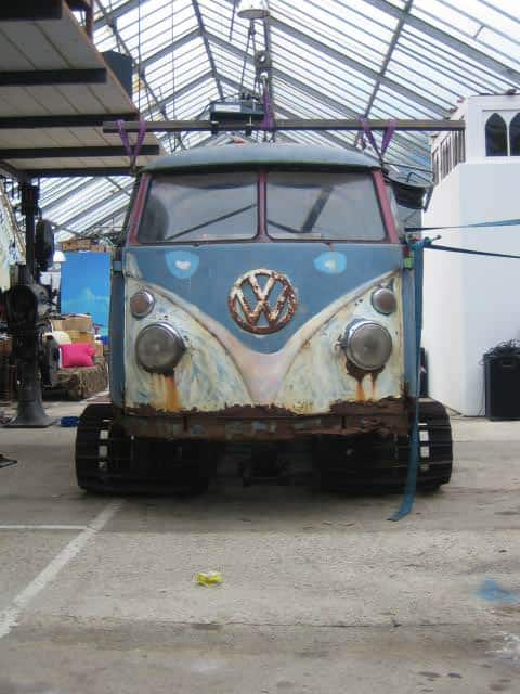 van7 Snow tracks from VW van in metals  with snow Music dj Automotive