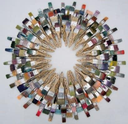 Repurposed paint brushes