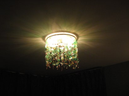 My green bottles chandelier