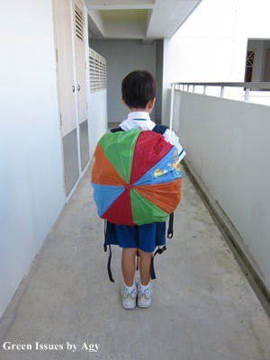 DIY: Umbrella to Backpack Cover