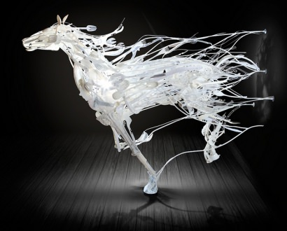 Recycled Plastics sculptures by Sayaka Ganz