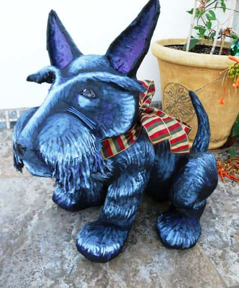Up cycling, truly an art form in paper art  with Upcycled Sculpture Recycled Paper mache Art Animals