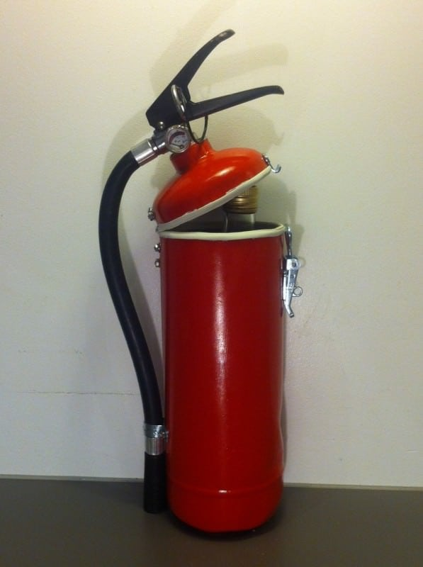 Fire Extinguisher Upcycled Into Liquor Container Accessories