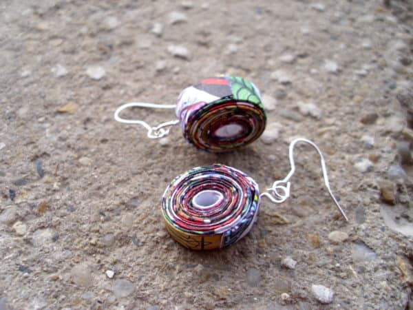 DSCI2438 600x450 Recycled and reused earrings in accessories  with Paper & Books Jewlery Electronics Earring