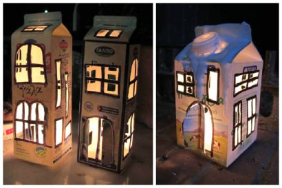 Milk Box Lanterns