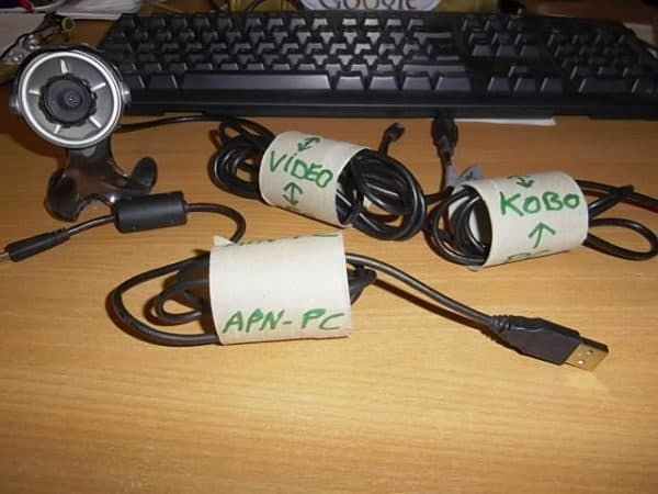 Store and identify cables Do-It-Yourself Ideas Recycled Cardboard