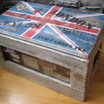 God saved my pallet union jack coffee table recyclart for Table haute palette