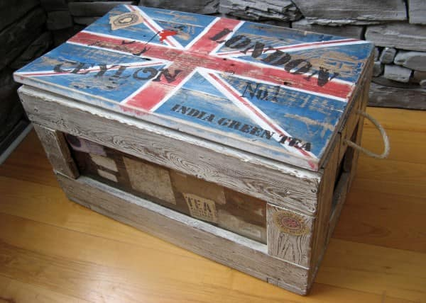 Union Jack Box Recycled Furniture Wood & Organic