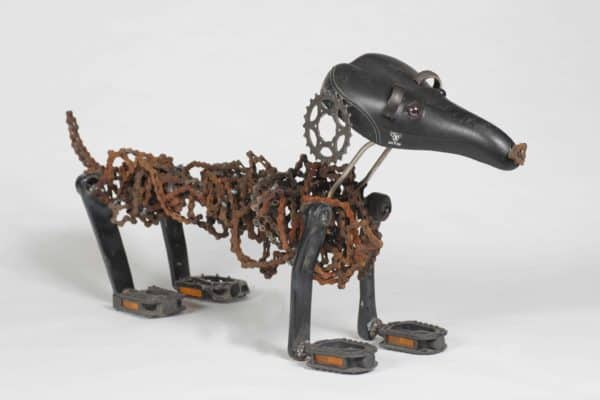 Recycled Bicycle Chains Dogs by Nirit Levav Bike & Friends Recycled Art