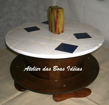 Wire reel table Do-It-Yourself Ideas Recycled Furniture