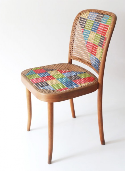 DIY : cross stitch chair