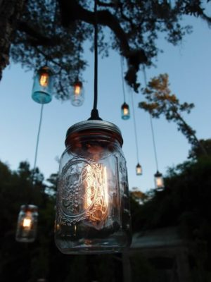 Mason jars transformed into lights !