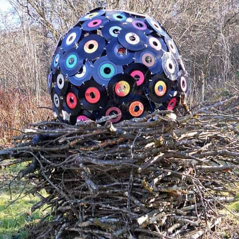 Another Idea to Reuse Vinyls ! Recycled Art Recycled Vinyl