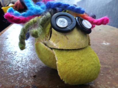 Tennis ball Puppet