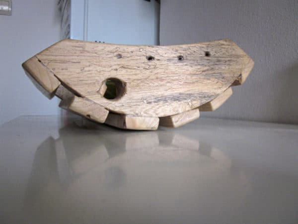 Dish from reclaimed wood in wood pallets 2 accessories  with kitchen dish Bowl