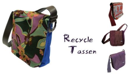 Sustainable shoulder bags made from left over fabrics!
