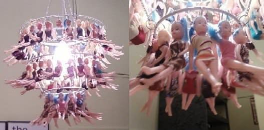 Doll Chandelier in plastics lights  with Light Lamp Doll Chandelier