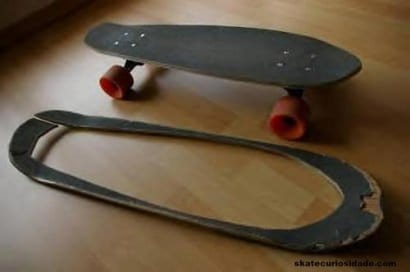 Reused skateboard deck