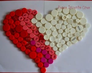 Bottle caps heart