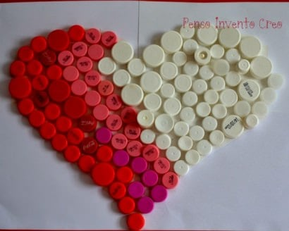 Bottle caps heart