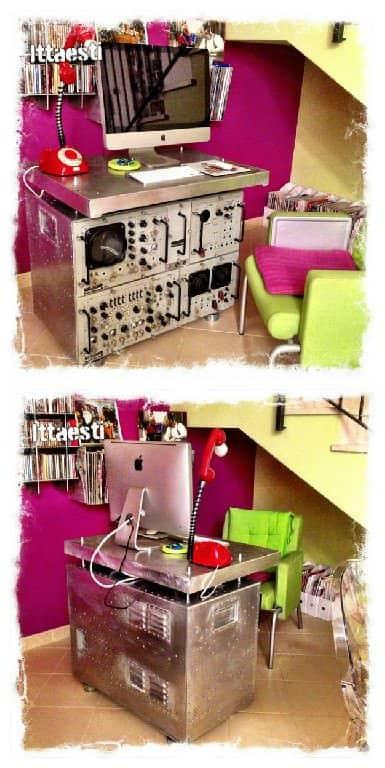 Oscilloscope Metal Desk