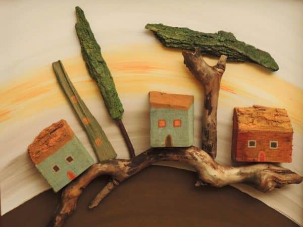 Wooden 3D pictures by Anja Leko in wood diy art  with Wood driftwood Art