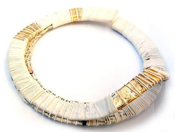 LerènieS   Contemporary Paper Jewelry in art jewelry accessories  with sustainable Recycled Art Paper & Books Jewelry