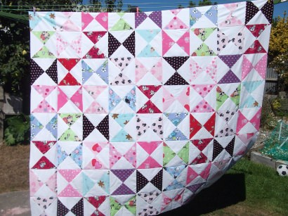 Old Pyjamas upcycled to Patchwork Quilt