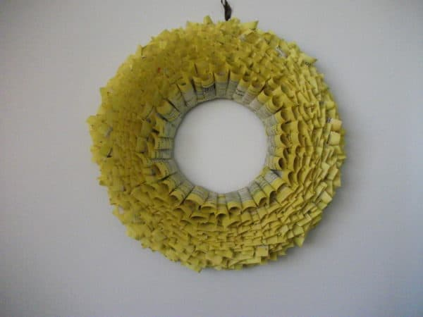 Yellow Pages Wreath Do-It-Yourself Ideas Recycling Paper & Books