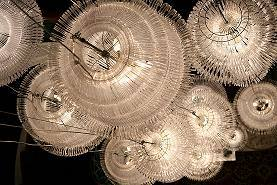 Plastic hangers lamps
