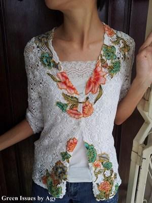 Upcycled Crochet Cardigan Clothing Do-It-Yourself Ideas