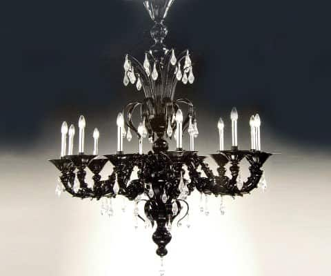 Murano glass chandeliers in lights glass  with Light home Glass Chandelier Art