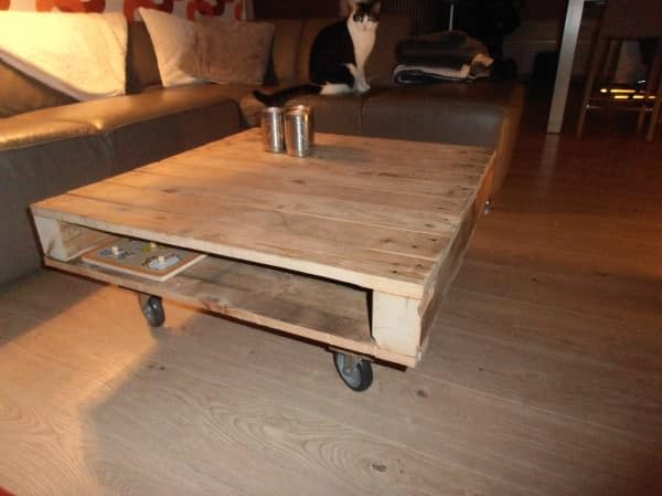 Another pallet coffee table in pallets 2  with Pallets Furniture Coffee Table