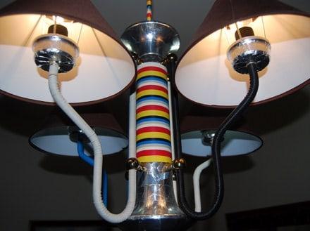 Reused old lamp