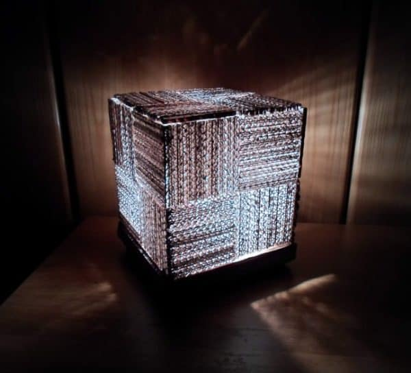 Cube Lamp Lamps & Lights Recycled Cardboard