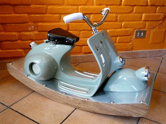 Vespa Rocking Horse Recycled Furniture