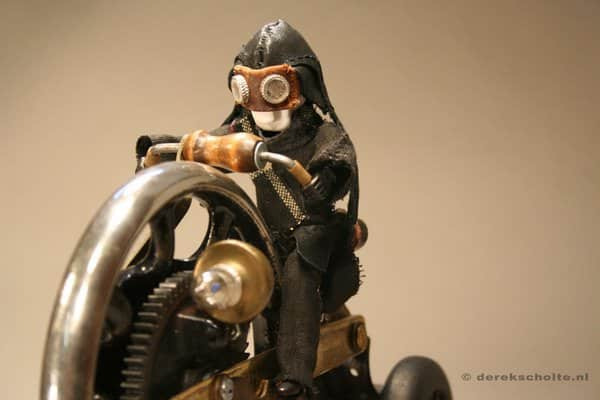 Junkart objects by Derek Scholte in art  with Trash art steampunk Sculpture Recycled Art mixed media Assemblage