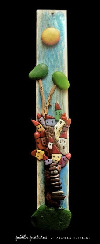 Pebble Pictures Recycled Art Wood & Organic