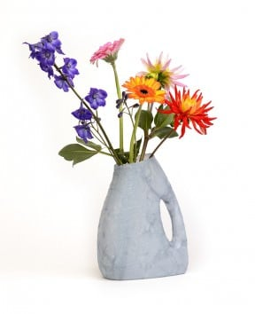Detergent bottles flowers vases