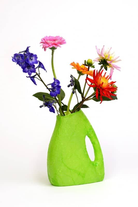 Detergent bottles flowers vases in plastics diy  with vase Upcycled Reused Recycled Flowers