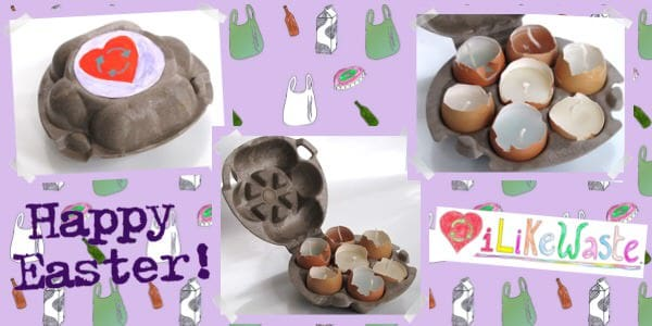 Recycled Easter Candles!  in diy accessories  with Recycled Eggshell Candle