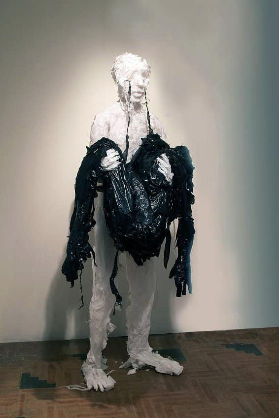 Discarded Plastic Bags Sculptures by Khalil Chishtee Recycled Art Recycled Plastic
