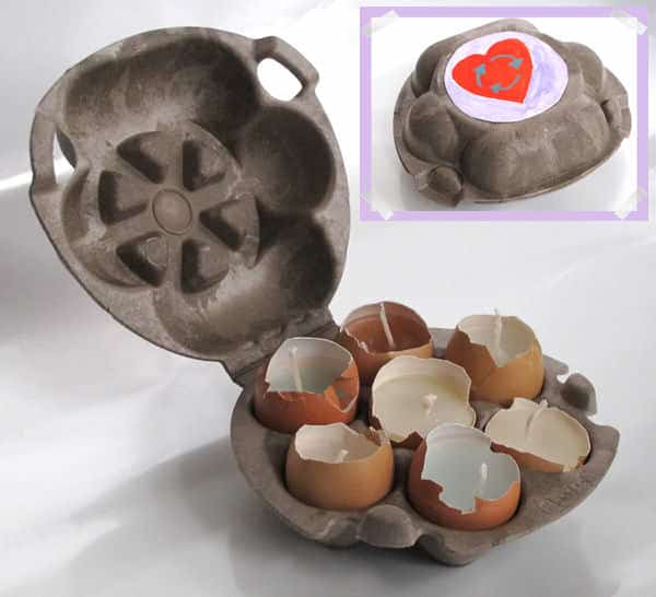 Recycled Easter Candles!  in diy accessories  with Recycled Eggshell eggs egg box easter Candle