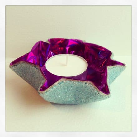 Beautiful Recycled Cd Tea light holders.