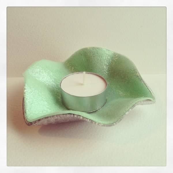 Beautiful Recycled Cd Tea light holders in accessories  with Recycled CD