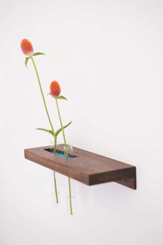 Test tube shelves Do-It-Yourself Ideas Recycled Furniture