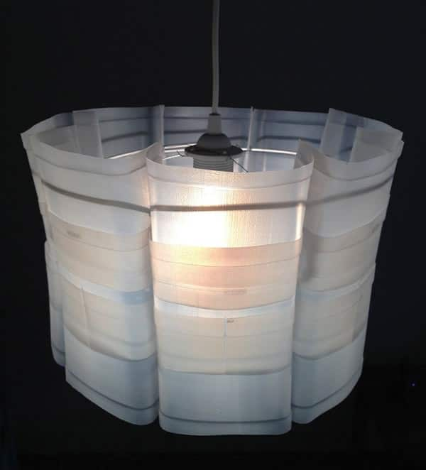 Upcycled plastic milk carton: Milkflower lampshade in packagings lights  with Plastic Milk Lampshade Lamp carton