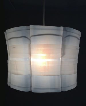 Upcycled plastic milk carton: Milkflower lampshade